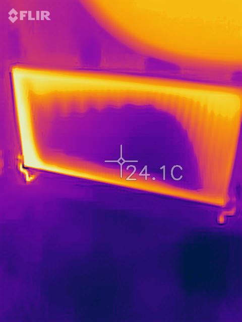 Image 4 - Thermal image of blocked radiator in the middle. Cold spot. We are expert in power flushing.