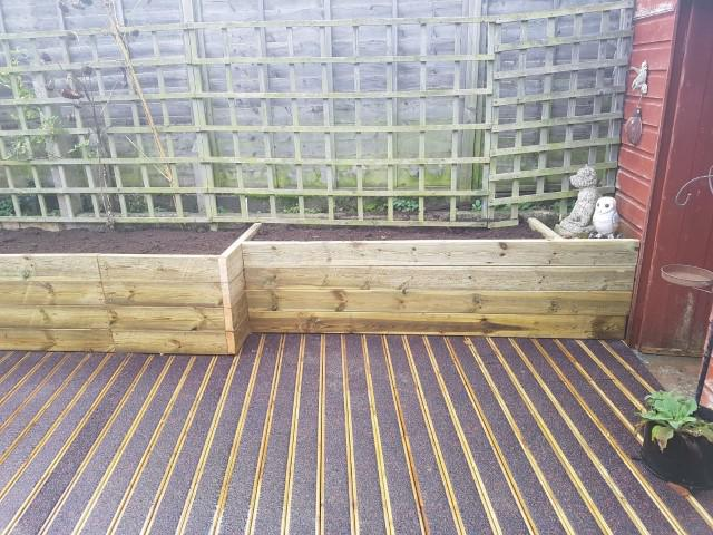 Image 197 - Raised sleeper beds and anti slip decking
