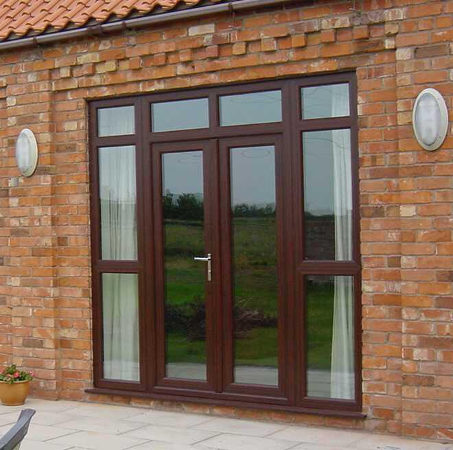 Image 23 - Rosewood French door combination