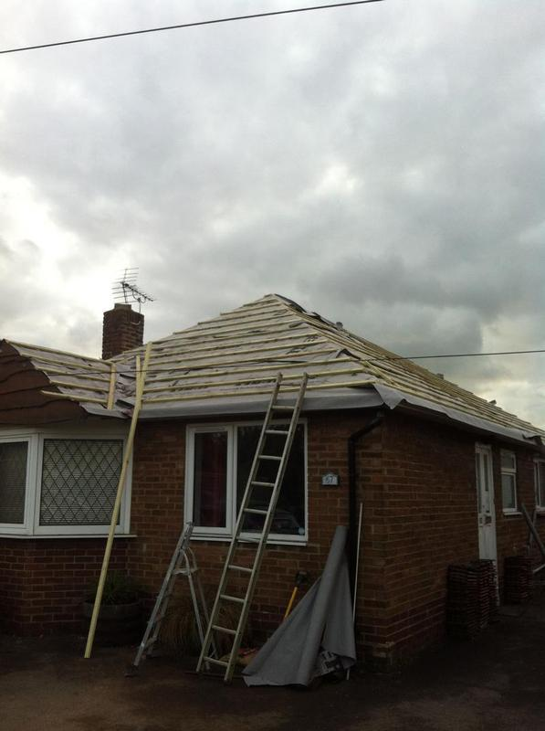 Image 26 - Re-Roof of complete bungalow (during)