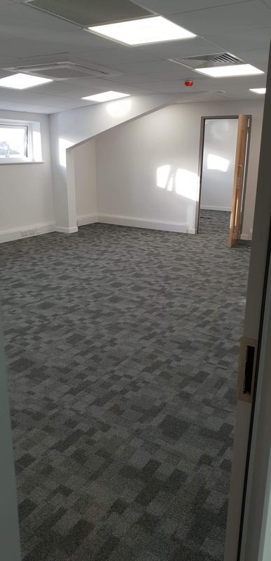 Image 14 - office carpet tile install