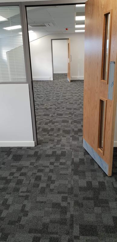 Image 13 - office carpet tile install