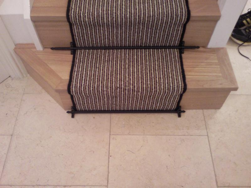 Image 20 - Brintans stair runner with rods.