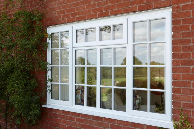 Image 13 - White PVCu casement window with astragal bar design