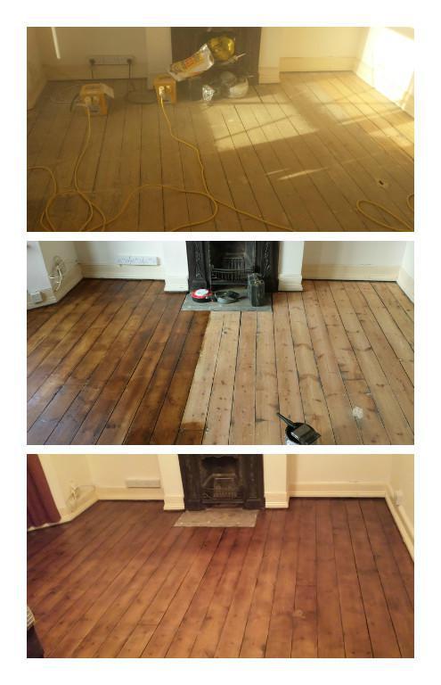 Image 38 - Floorboards sanded and varnished.