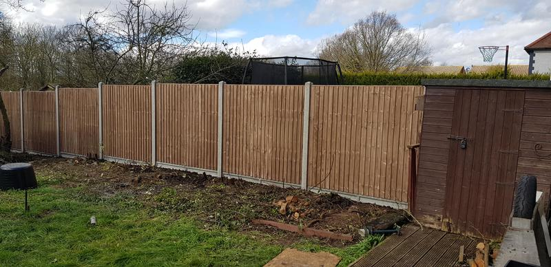 Image 12 - Concrete Closeboarded Fence