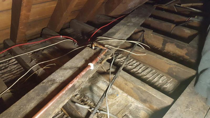Image 4 - installation and replacement of old led cold water down service of cold water storage tank for our electrical contractors Mbi electrical
