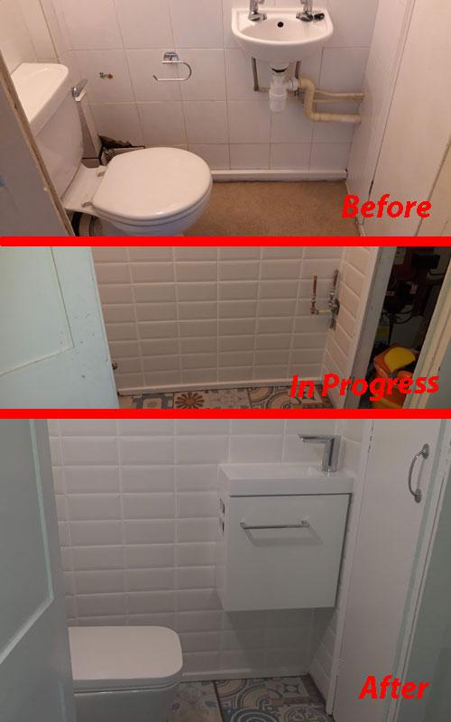 Image 6 - Redecorating a cloakroom