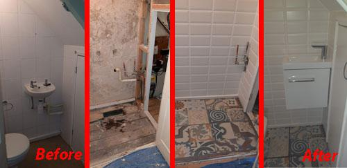 Image 21 - Redecorating a cloakroom - sink