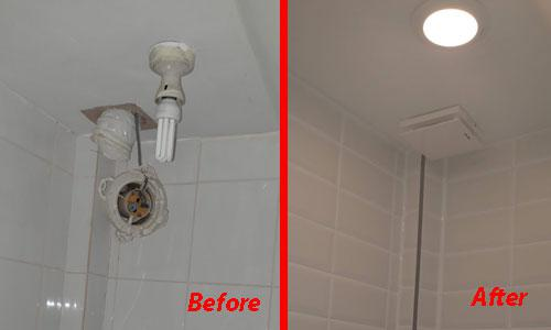 Image 8 - Changing light and bathroom fan