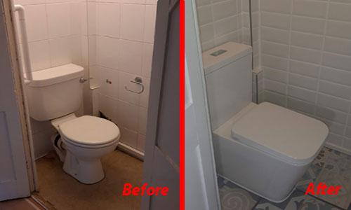Image 23 - Redecorating a cloakroom - toilet