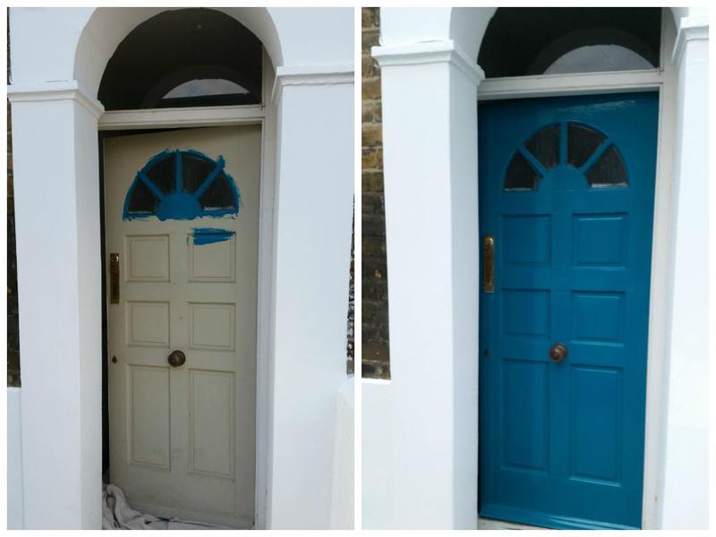Image 98 - Front door painted.