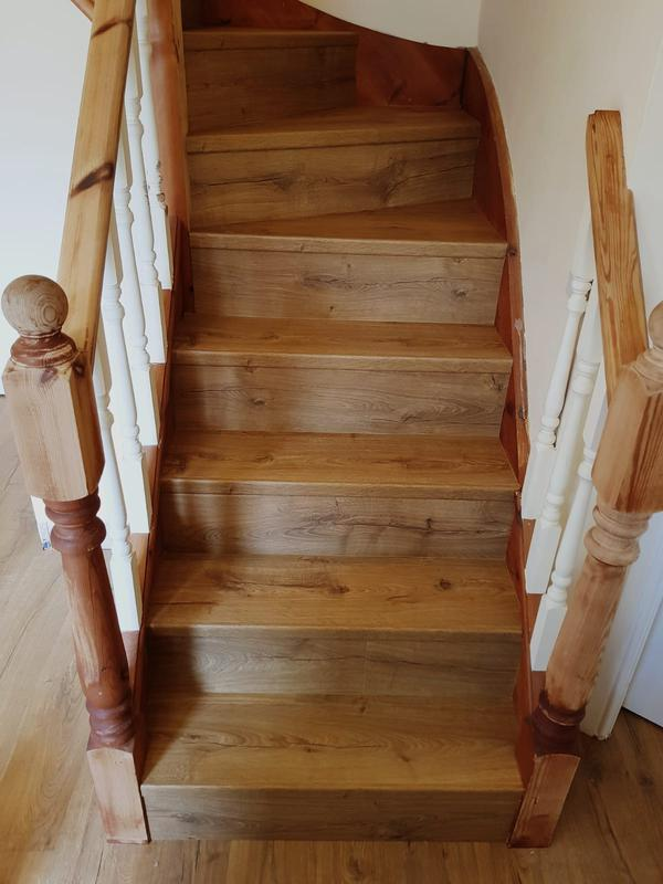 Image 6 - Staircase cladded with Quickstep Laminate