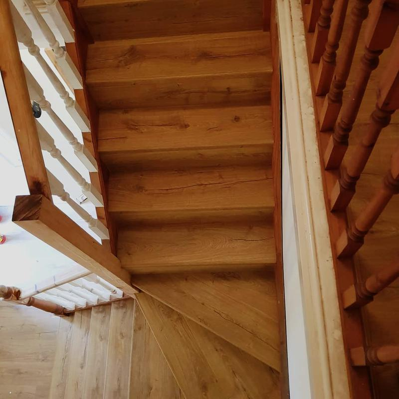 Image 25 - Staircase cladded with Quickstep Laminate