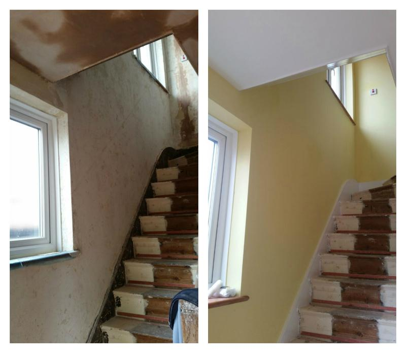 Image 97 - Plastering and decorating of a hall stairs and landing.