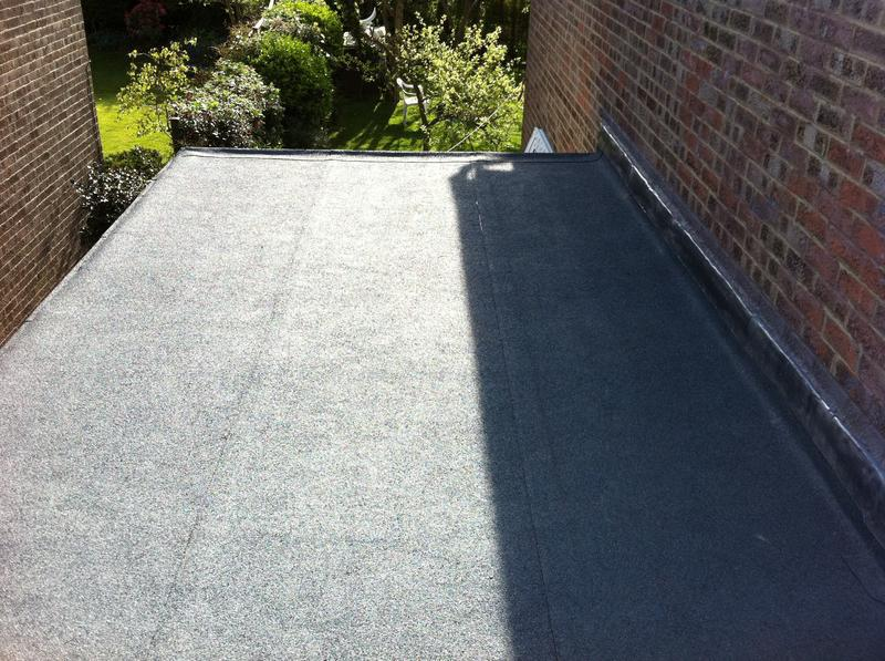 Image 4 - THIS IS THE SAME  ROOF AFTER WE RE-NEWED IT WITH THREE LAYER BUILT UP FELT