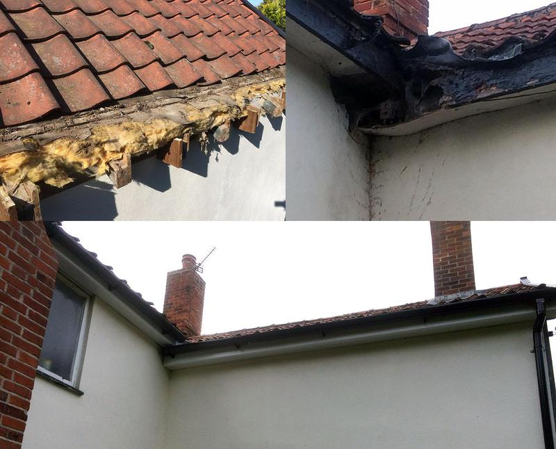 Image 2 - Roof, Fascia, Soffit and Guttering repairs before and after