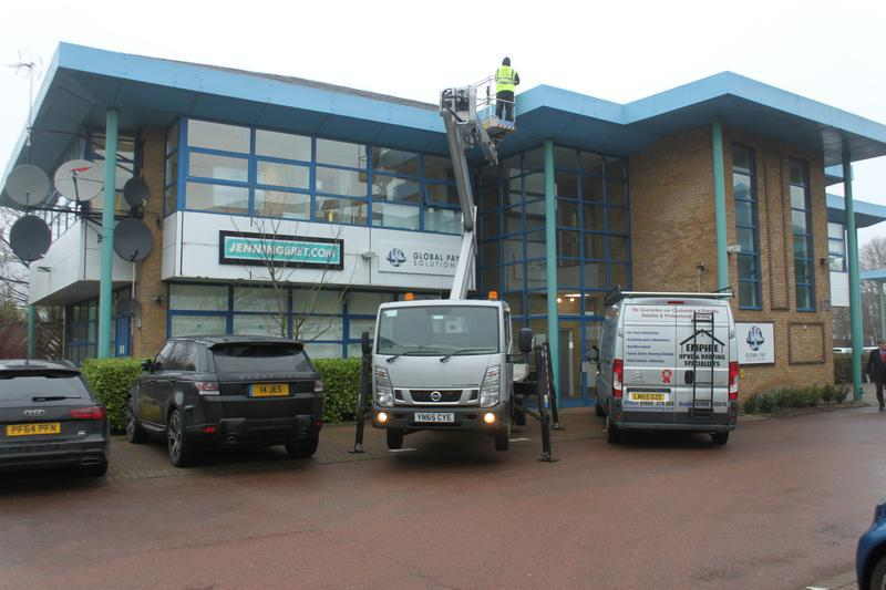 Image 34 - Commercial Roofing repair with Crane access