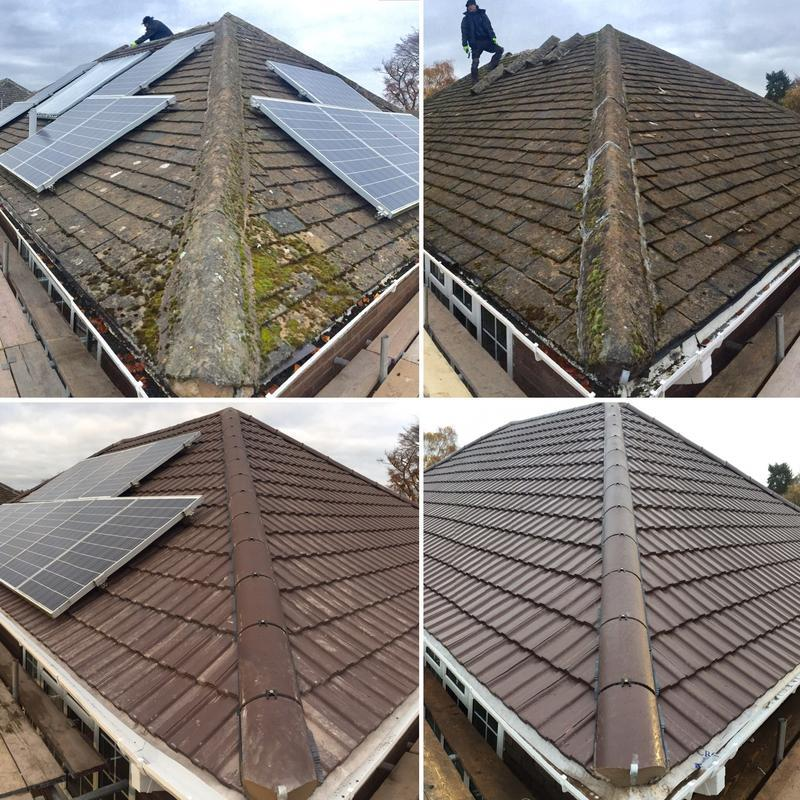 Image 11 - Before and after with our Marley Major tiles, also incorporating moving the Solar Panels through our contractors