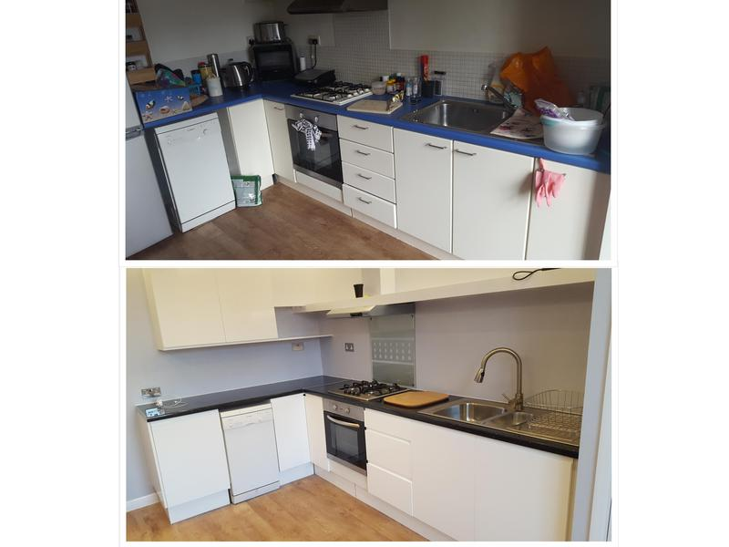 Image 3 - New kitchen unit and worktops installed including decorating the room.