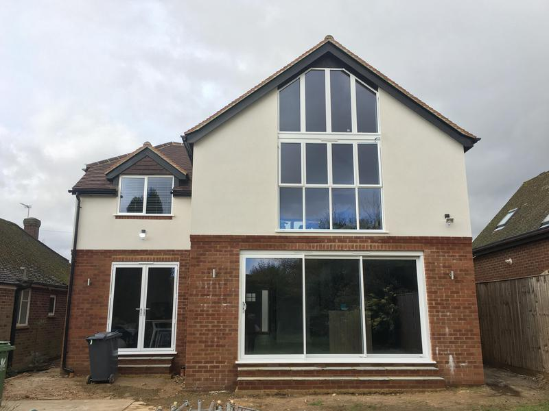 Image 2 - Two storey side & rear extension, with floor to ceiling glass & colour render