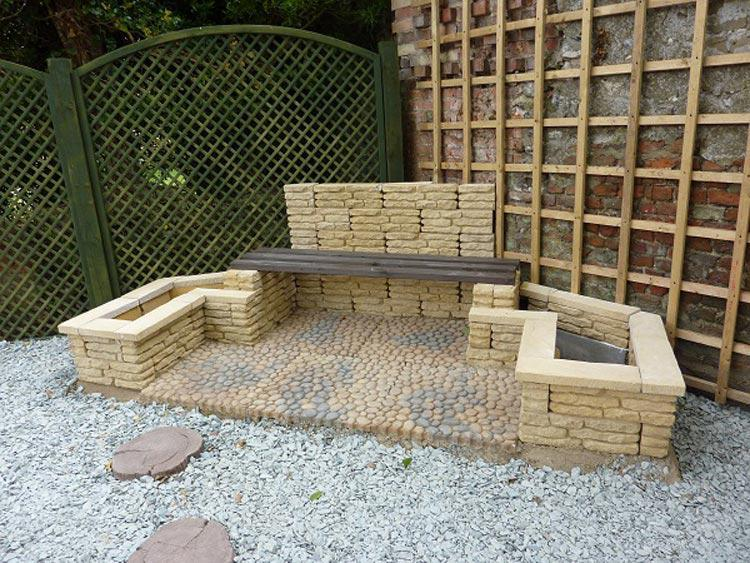 Image 5 - custom made seat and planters for the corner of the garden in walsingham