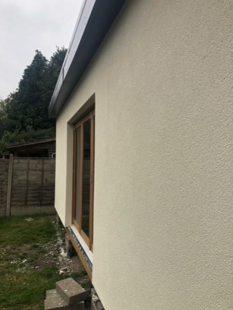 Image 13 - Finished external wall insulation to garden room.