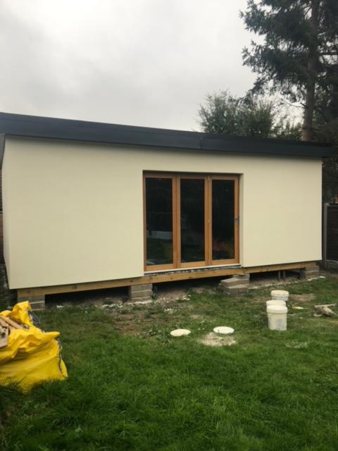 Image 14 - Finished external wall insulation to garden room.