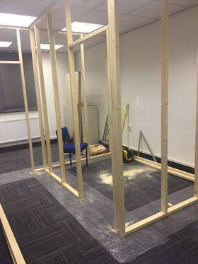 Image 4 - Stud partition for small office build