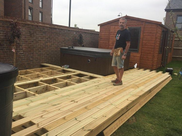 Image 2 - Build of prefab summer house/shed and decking to surround hot tub for customer.