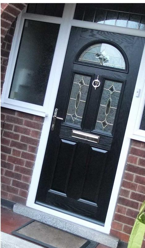 Image 12 - Sandiacre design Composite door in Black