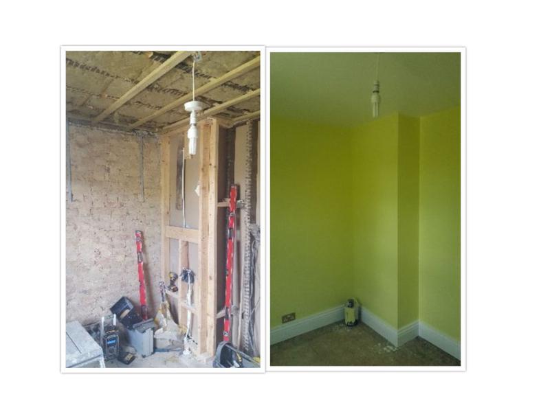Image 45 - Back to brick refurbishment of a bedroom.
