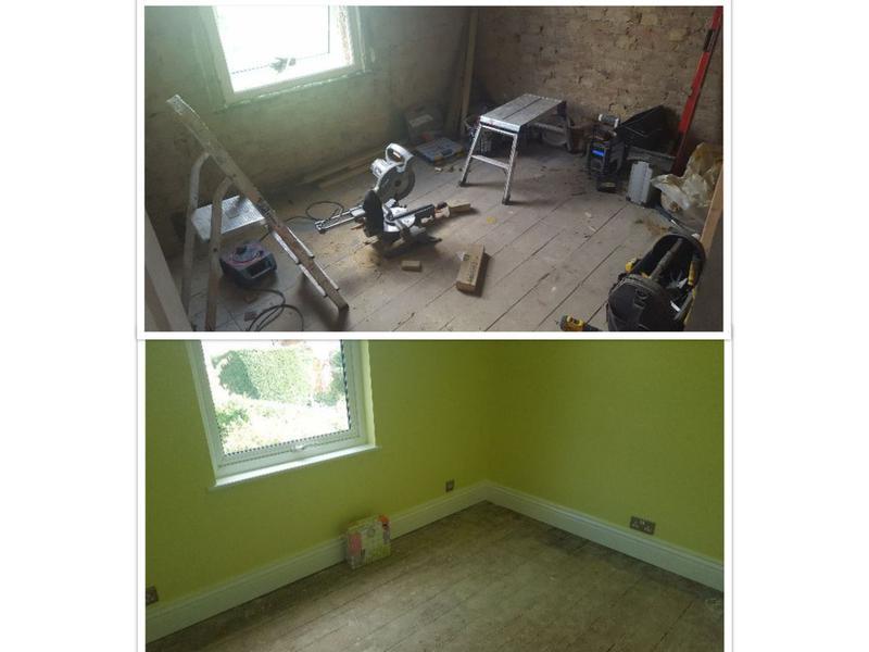 Image 44 - Back to brick refurbishment of a bedroom.