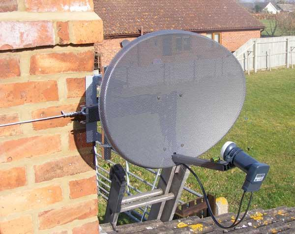 Image 16 - Sky dish installation on chimney lashing kit