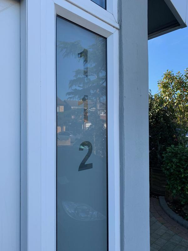 Image 23 - Eastwood-satin Etched Glass Door Number.