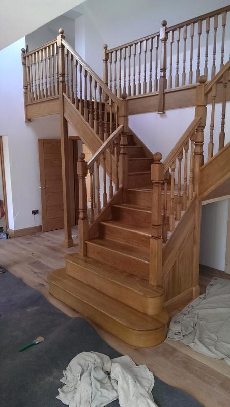 Image 16 - New oak staircase oiled in Sawtry