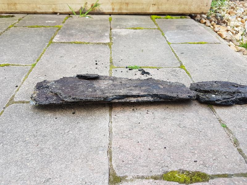 Image 5 - A large piece of limescale removed from slow draining sewer