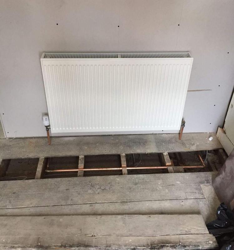 Image 25 - New radiator installation