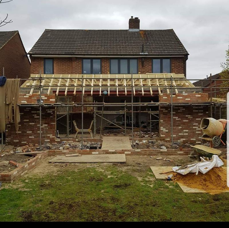 Image 5 - House Extension to create open plan Kitchen Diner -Fleet