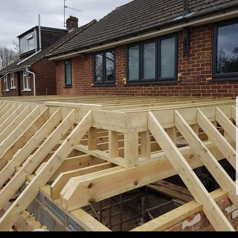 Image 7 - New Cut roof on a extension- House Extension to create open plan Kitchen Diner -Fleet