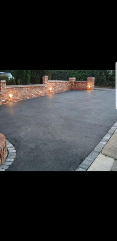 Image 1 - New tarmac driveway with block paving edges and New walls