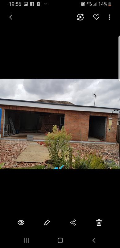 Image 183 - Large extension awaiting bi fold and french doors