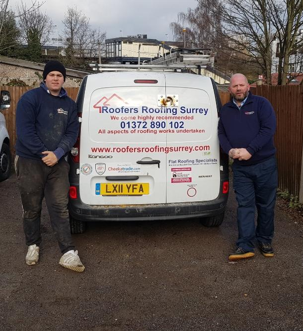 Image 2 - Father And Son Carrying Out Roof Repairs In Surrey And London