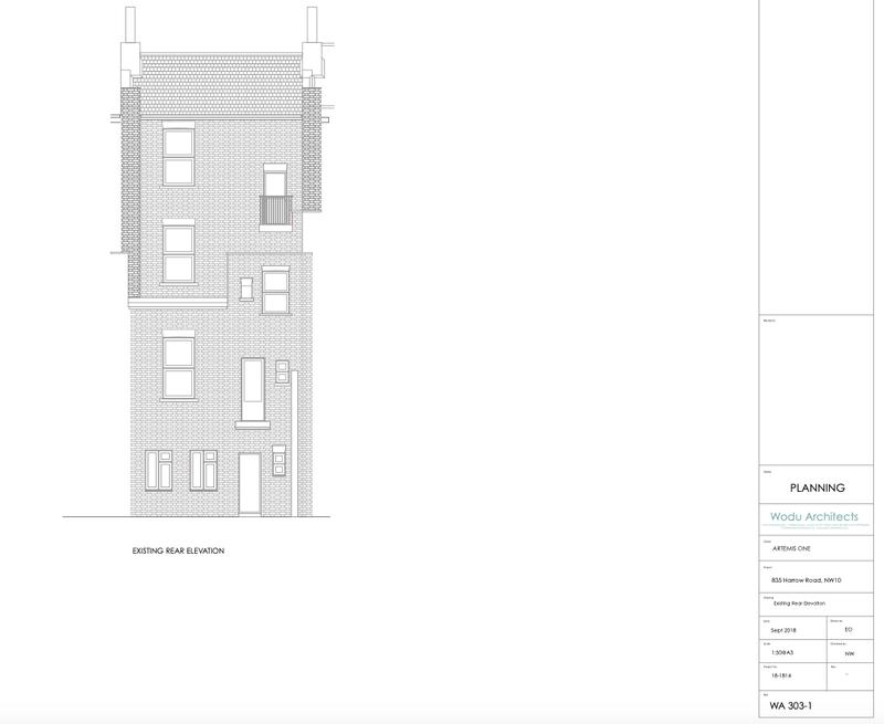 Image 6 - Existing Front Elevation (Full renovation in harrow road. basement extension and roof extension)