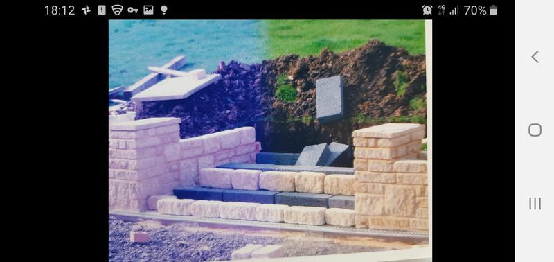 Image 23 - Natural stone wall and steps