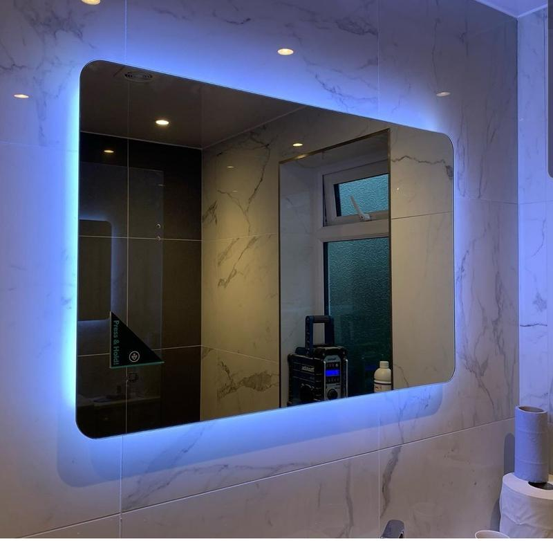 Image 44 - Finishing up this bathroom refurbish in sw9 London. Customer satisfied with LED mirror light aswell as downlights on ceiling