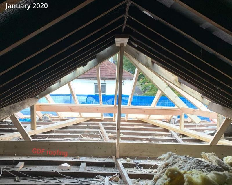 Image 48 - Joists had been replaced and it was all ready to be finished