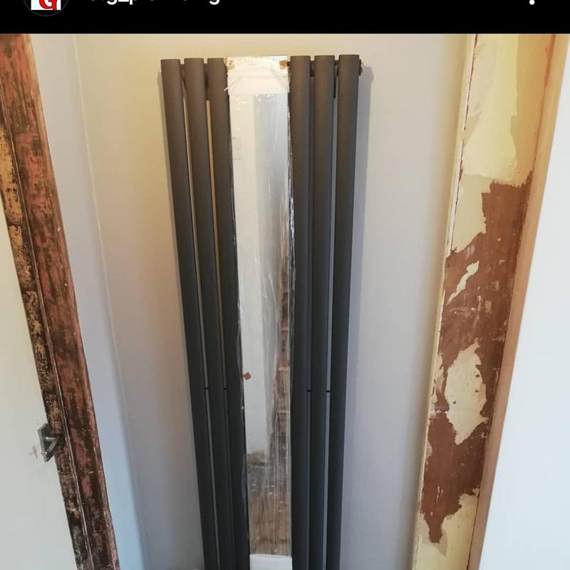 Image 8 - Vertical radiator with a central mirror