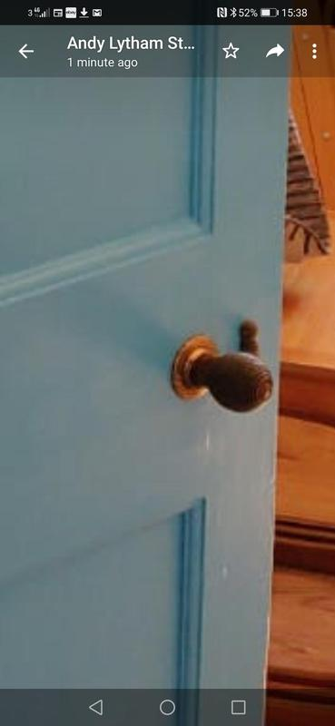 Image 11 - After photo, door handle and lock, removed old paint and re waxed