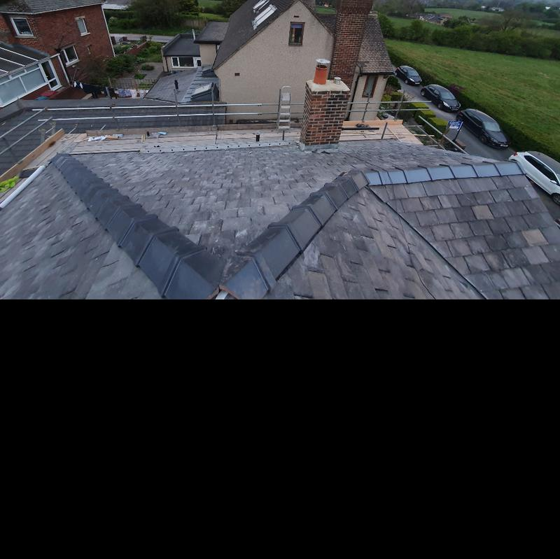 Image 35 - new roof, chimney repointed and reflaunched and brand new dry ridge system with new marley ridge tiles